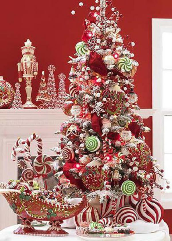 Candy Themed Christmas Ornaments  Amazing photographs showing beautiful Christmas tree ideas