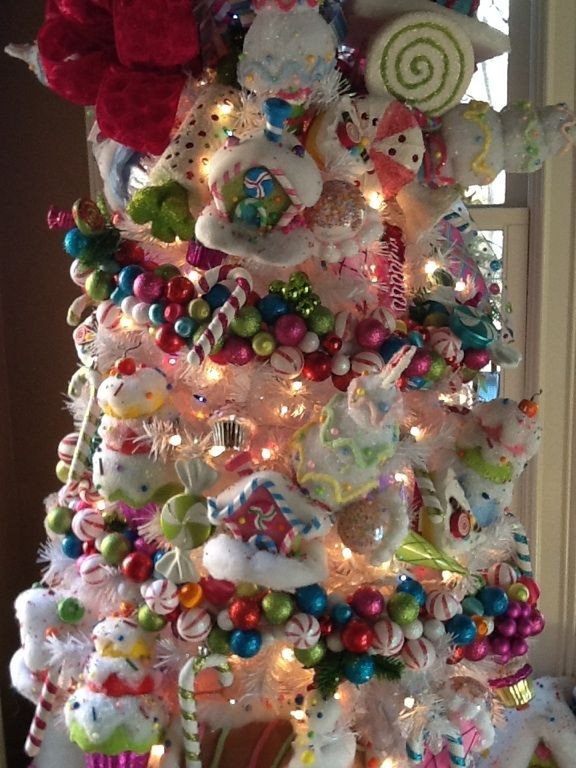 Candy Themed Christmas Ornaments  Candy land tree Check out that ornament garland