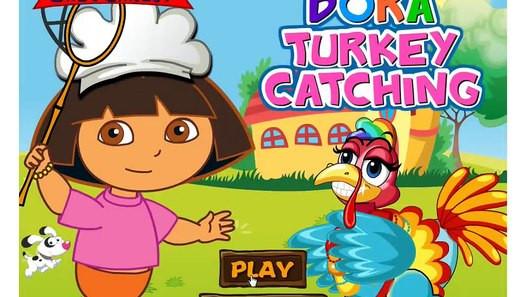 Catching The Thanksgiving Turkey  Dora ThanksGiving Turkey Catching Vidéo dailymotion