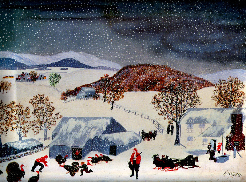 Catching The Thanksgiving Turkey  Art History News Grandma Moses at Auction