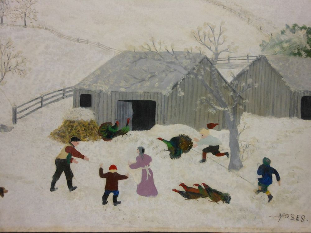 Catching The Thanksgiving Turkey  Anna Mary Robertson called Grandma Moses American 1860