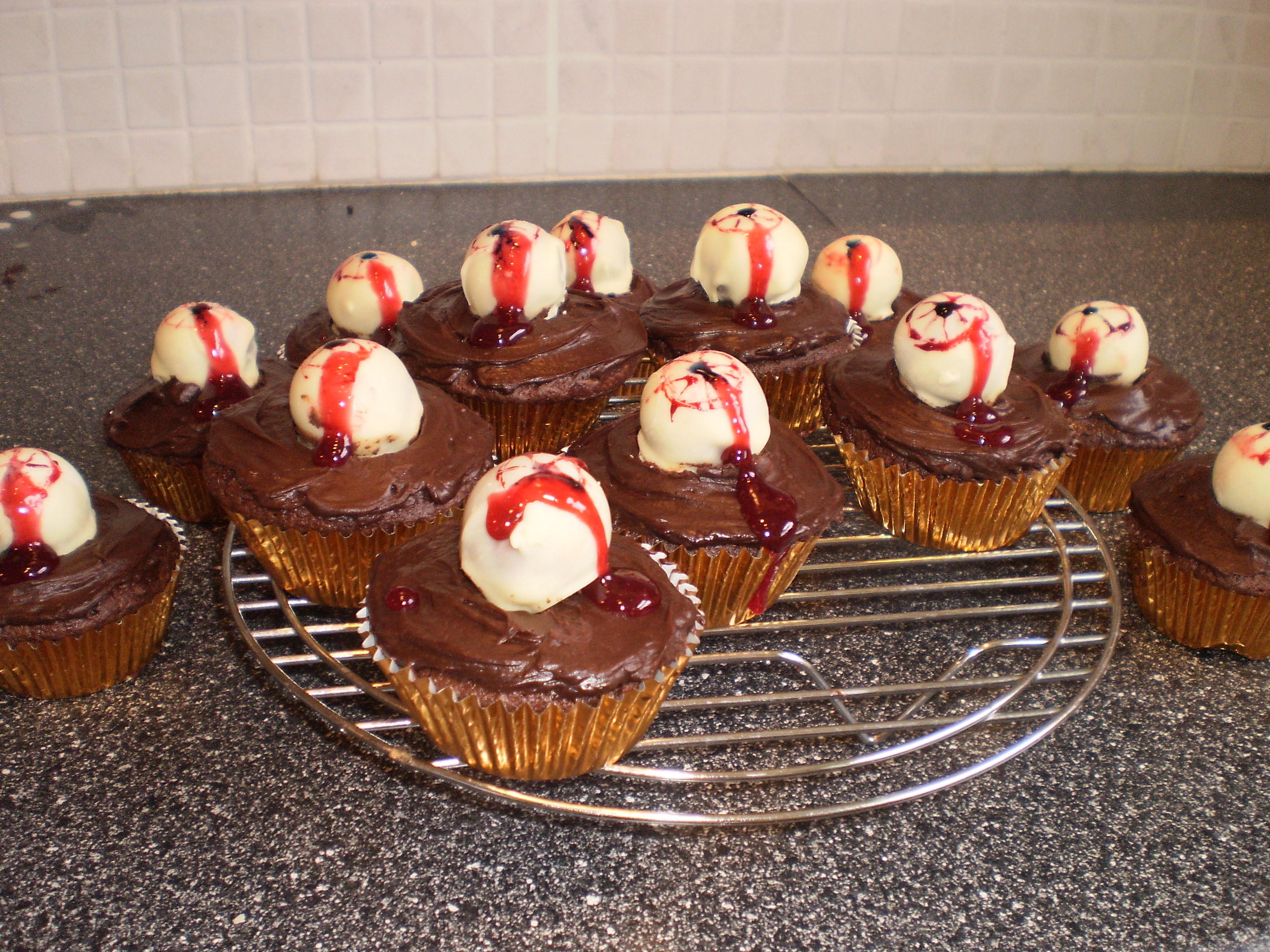 Chocolate Halloween Cupcakes  Halloween