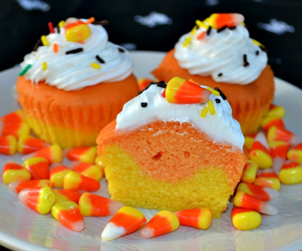 Chocolate Halloween Cupcakes  Candy Corn Cupcakes & McCormick Spooky Squad Giveaway