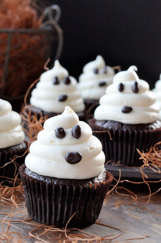 Chocolate Halloween Cupcakes  Halloween Ghost Chocolate Cupcakes