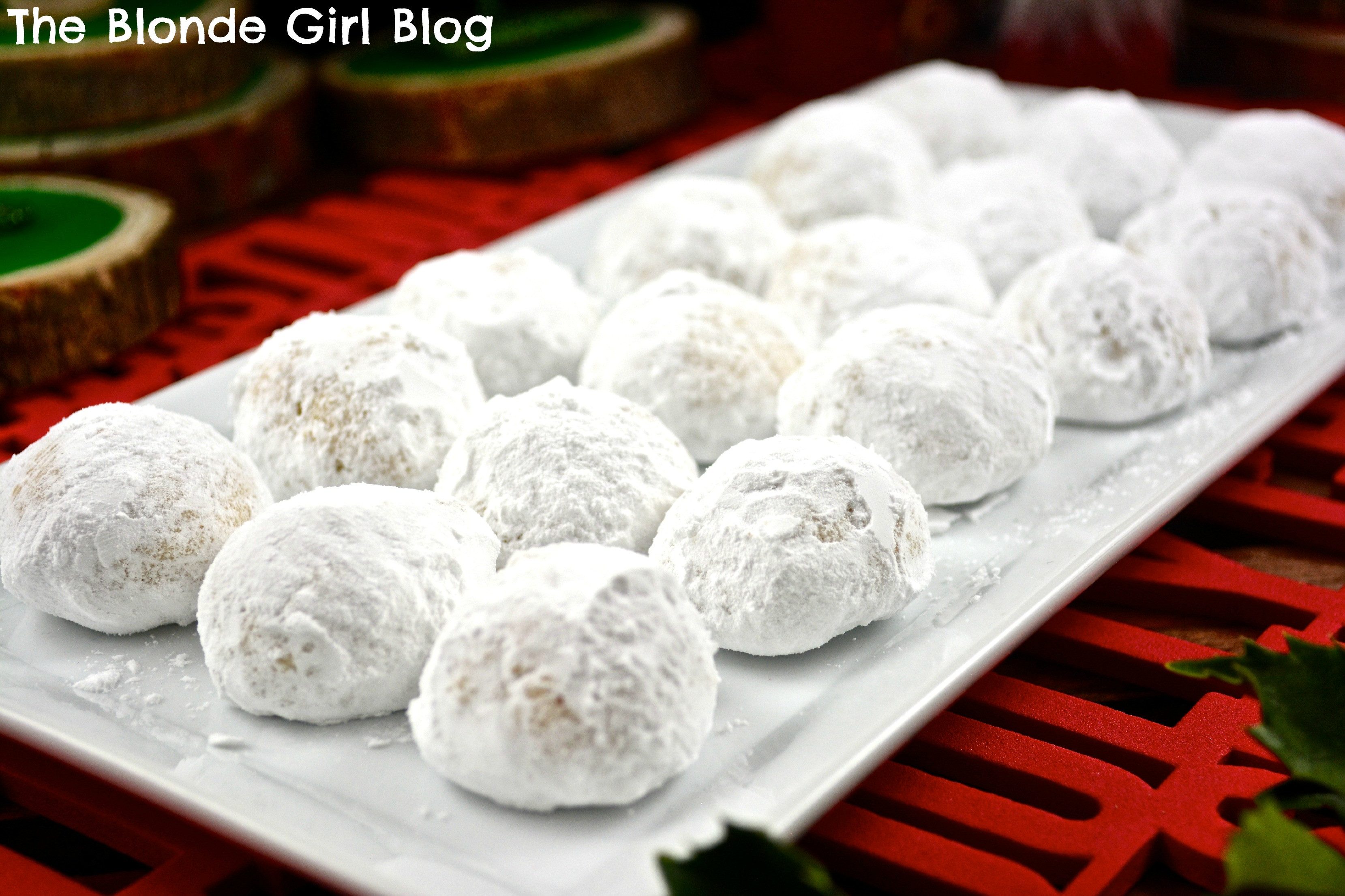 """Christmas Ball Cookies Powdered Sugar  Walnut Balls 12 on our """"25 Days of Desserts"""" List"""