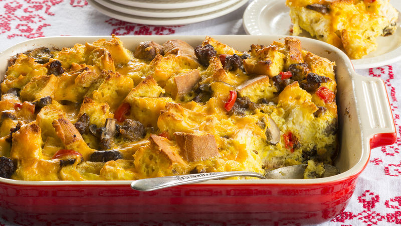 Christmas Breakfast Casseroles Recipes  Christmas Morning Breakfast Casserole recipe from Betty