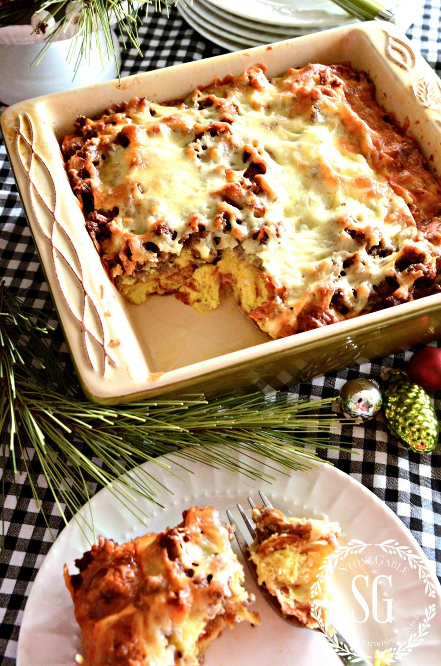 Christmas Breakfast Casseroles Recipes  CHRISTMAS BREAKFAST CASSEROLE StoneGable