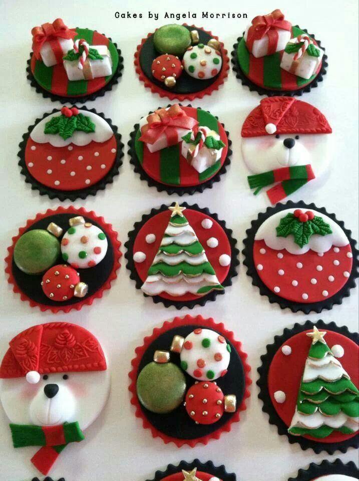 Christmas Cake Cupcakes  Angela morrison