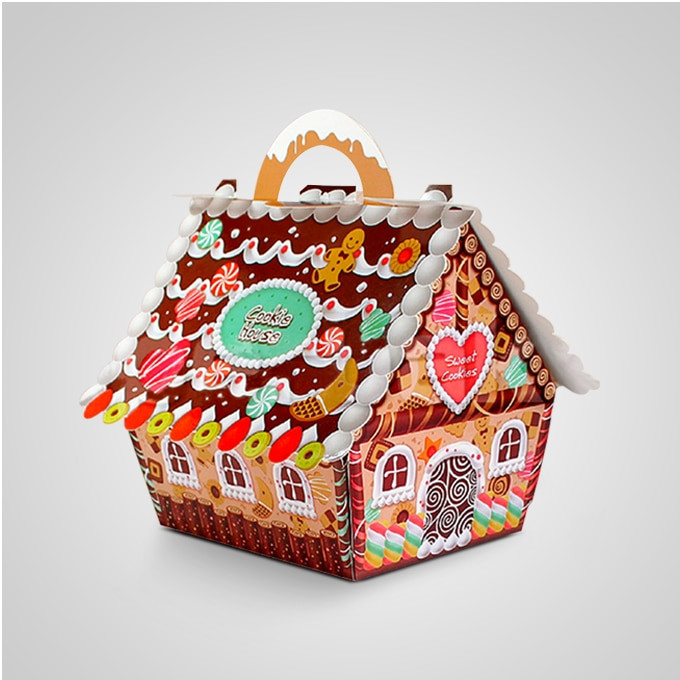 Christmas Candy Boxes  Aliexpress Buy 50pcs Small house candy boxes