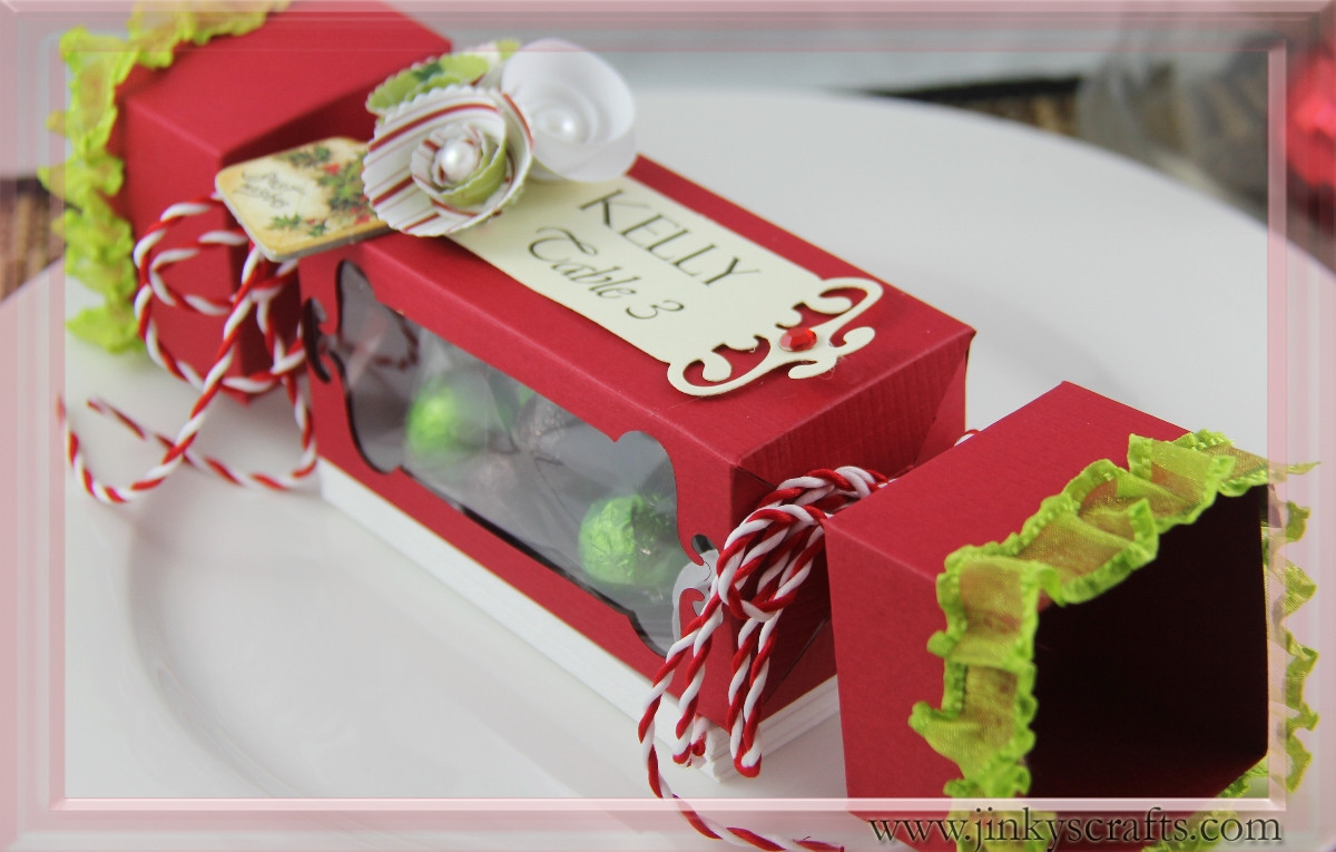 Christmas Candy Boxes  Jinky s Crafts & Designs Christmas Candy Treat Box 2nd