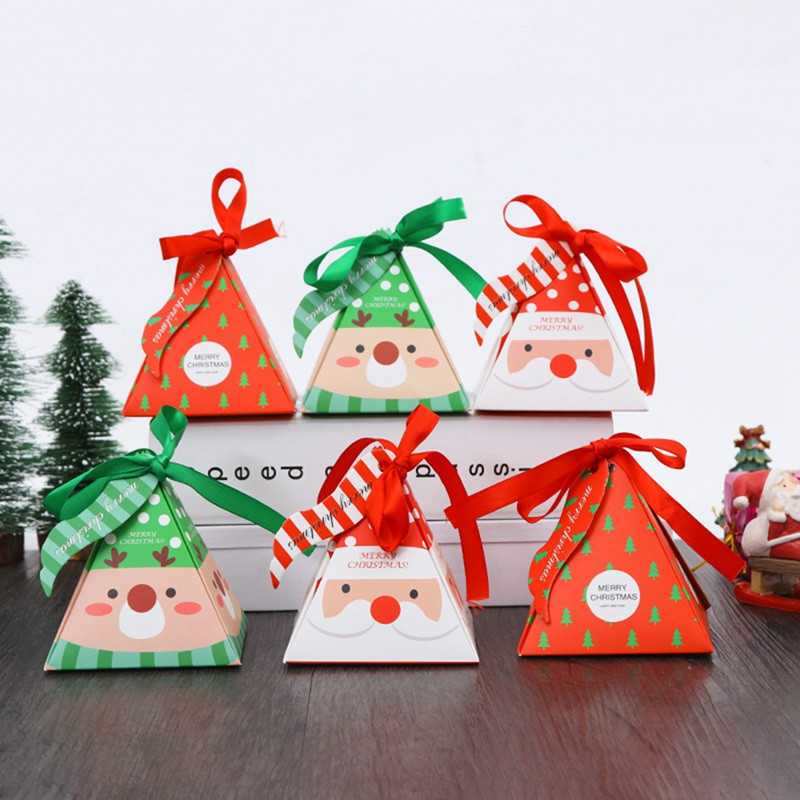 Christmas Candy Boxes  Merry Christmas Candy Box Bag Christmas Tree Gift Box With