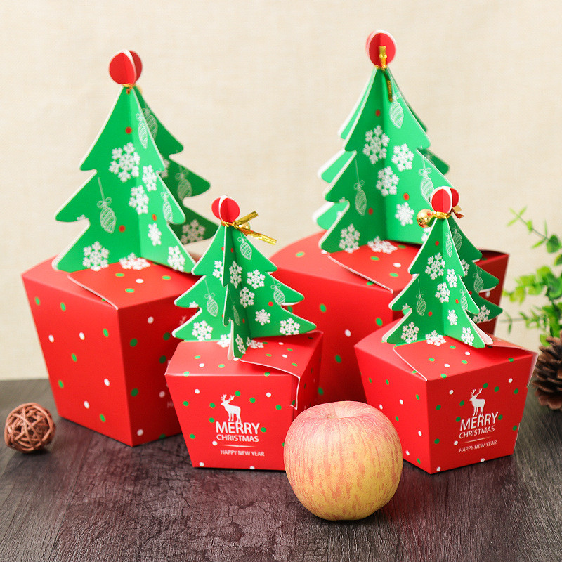 Christmas Candy Boxes  Christmas 2017 Paper Gift Box Candy Box Fit Wedding Party