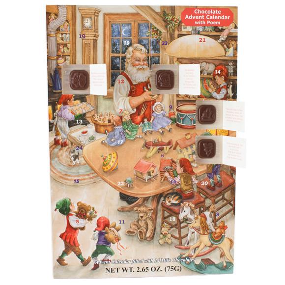 Christmas Candy Calander  Santa s Naughty or Nice Chocolate Advent Calendar