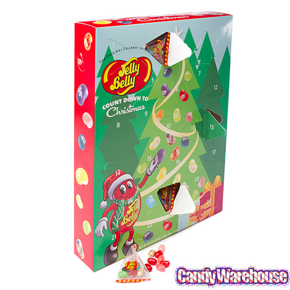 Christmas Candy Calander  Jelly Belly 24 Piece Advent Calendar