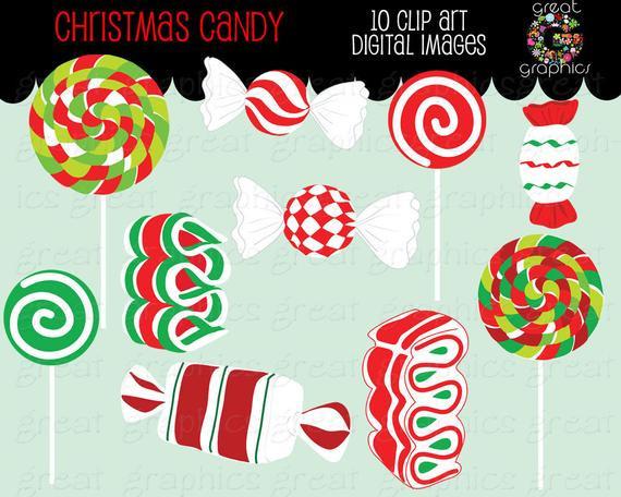 Christmas Candy Clip Art  Christmas Candy Clip Art Christmas Clipart Digital Christmas