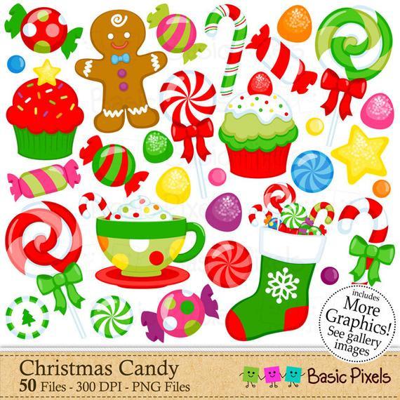 Christmas Candy Clip Art  Christmas Candy Clipart Digital Clip Art Christmas