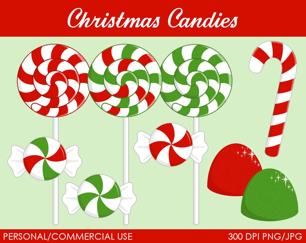 Christmas Candy Clip Art  Christmas Can s Clipart Digital Clip Art by MareeTruelove