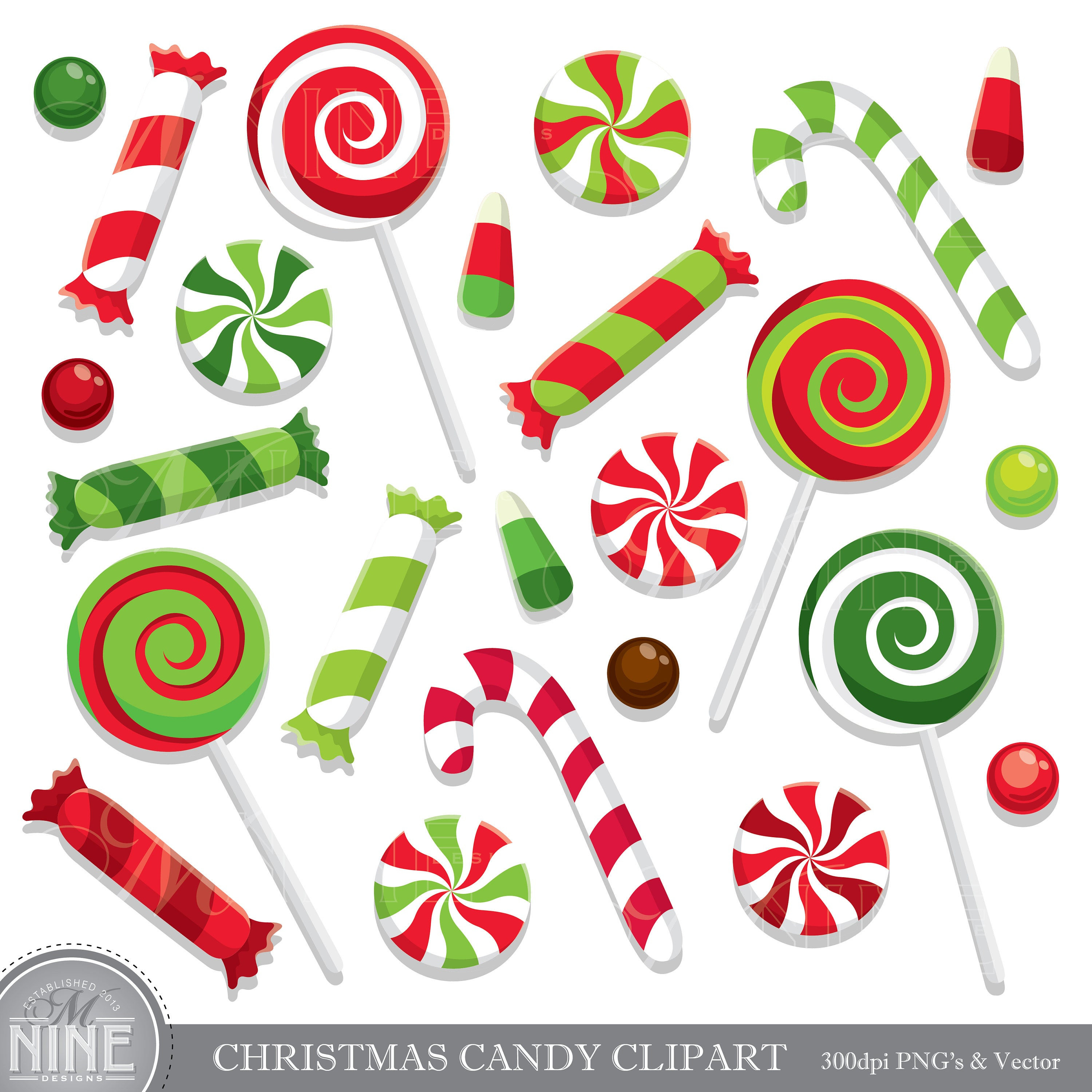 Christmas Candy Clip Art  CHRISTMAS CANDY Clip Art Holiday CANDY Clipart Downloads