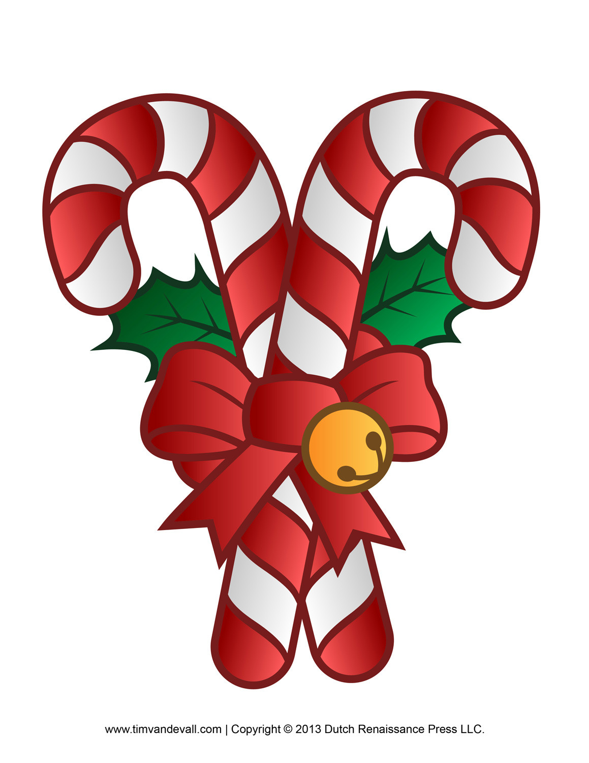 Christmas Candy Clip Art  Free Candy Cane Template Printables Clip Art & Decorations