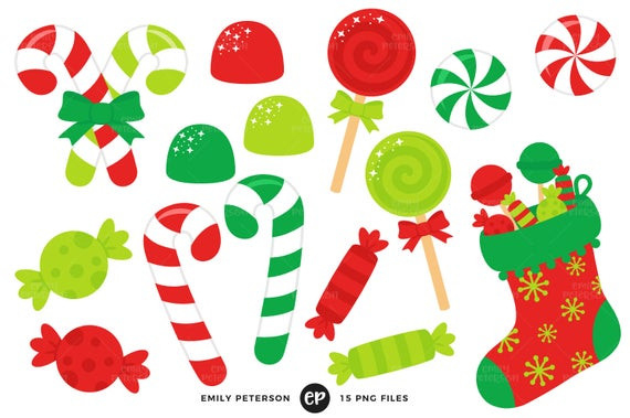 Christmas Candy Clip Art  Christmas Candy Clip Art Candy Cane Clipart Stocking Clip
