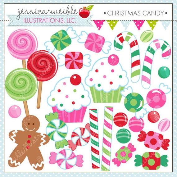 Christmas Candy Clip Art  Christmas Candy Cute Digital Clipart mercial Use OK