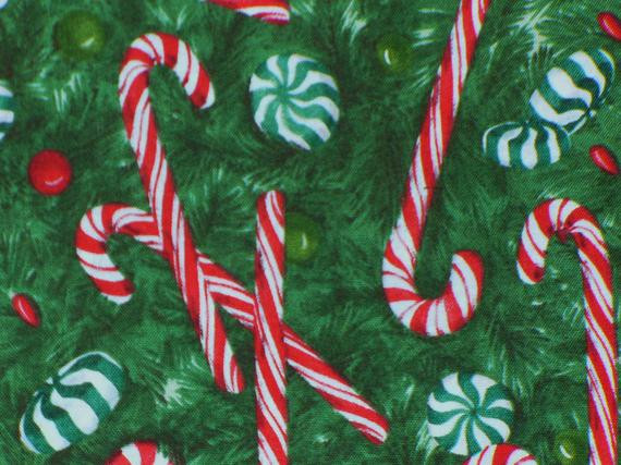 Christmas Candy Fabric  For kaitlynic only Christmas Candy Fabric by