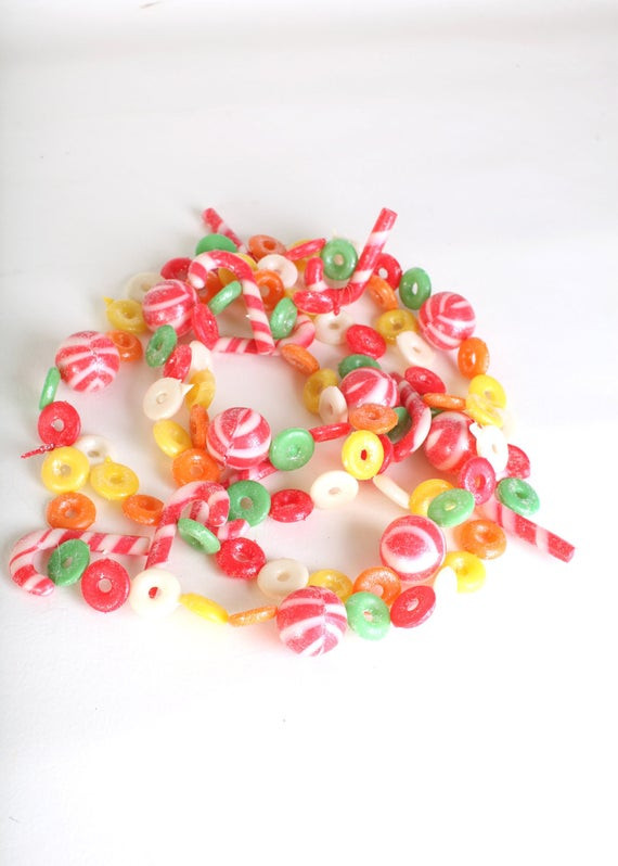 Christmas Candy Garland  Christmas decor plastic candy garland