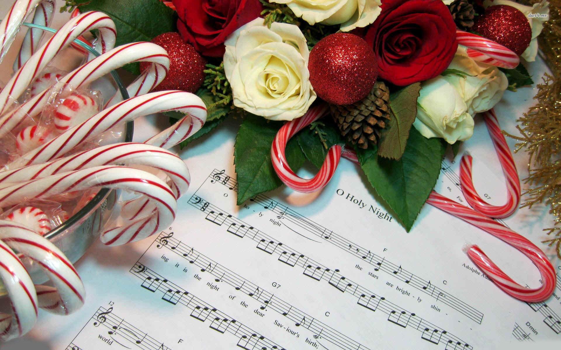 Christmas Candy Song  Christmas carol music sheet wallpaper Holiday wallpapers