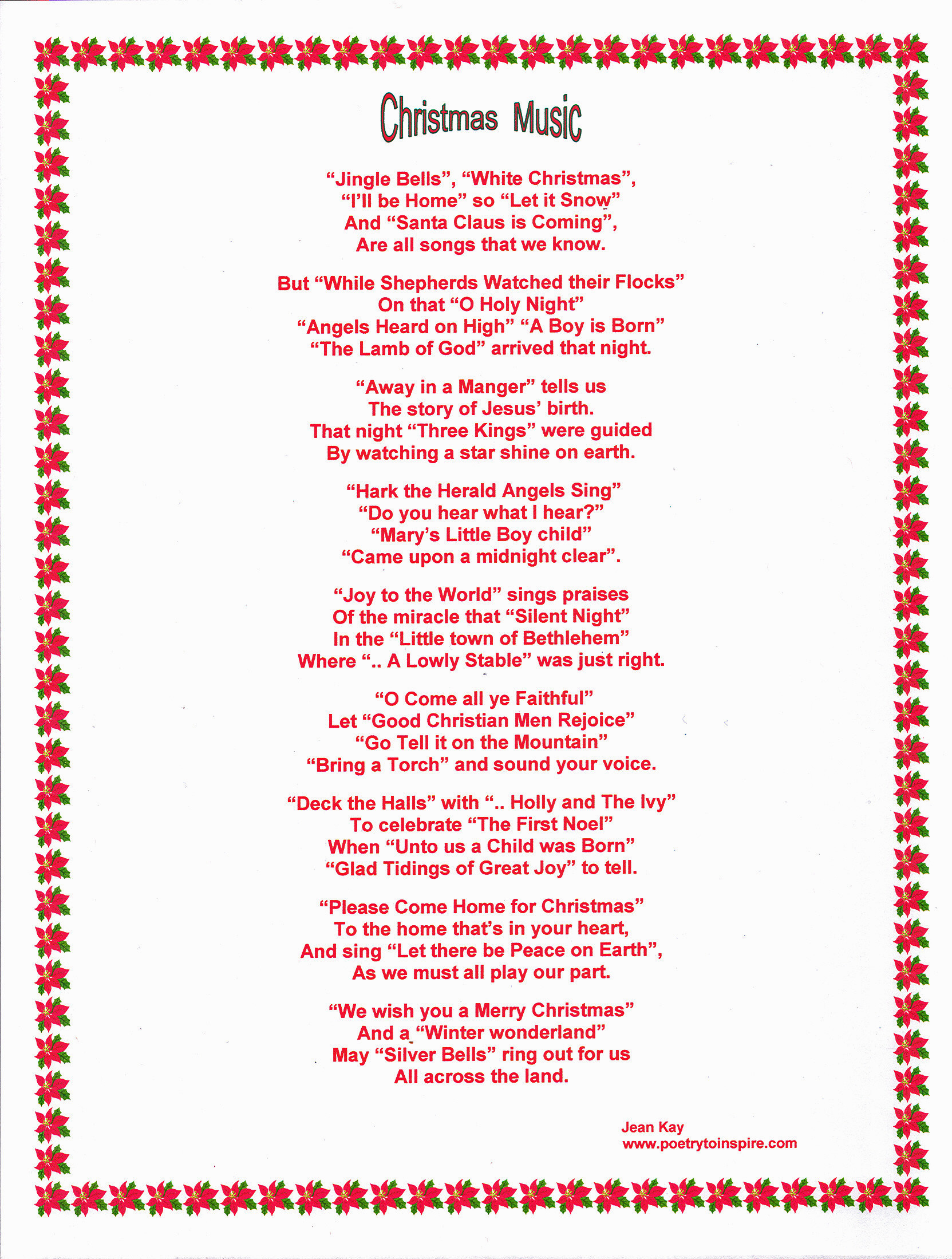 Christmas Candy Song  Let there be Peace on Earth