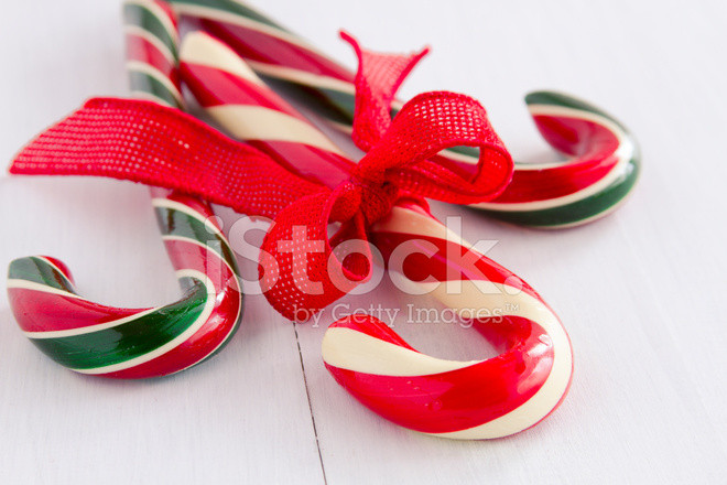 Christmas Candy Sticks  Christmas Candy Canes and Peppermint Sticks Stock s