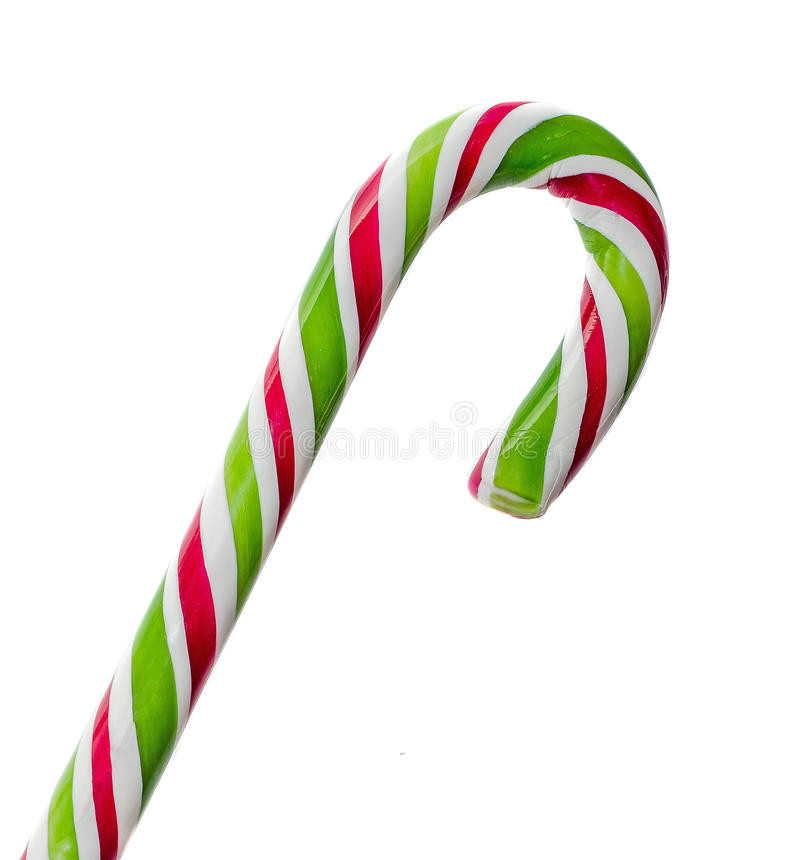 Christmas Candy Sticks  Green White And Red Candy Christmas Stick Lollipop Stock