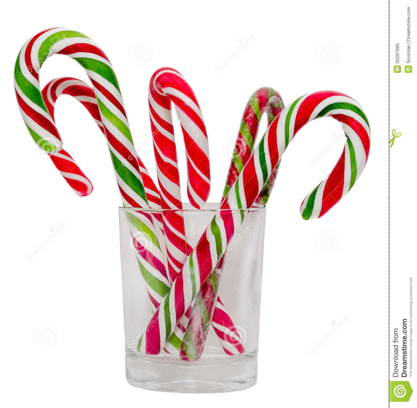 Christmas Candy Sticks  Colored Candy Sticks And Christmas Lollipops In A