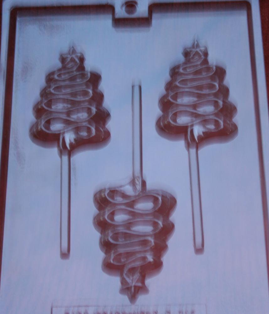 Christmas Chocolate Candy Molds  CHRISTMAS TREE RIBBON LIKE STAR ON TOP CHOCOLATE CANDY