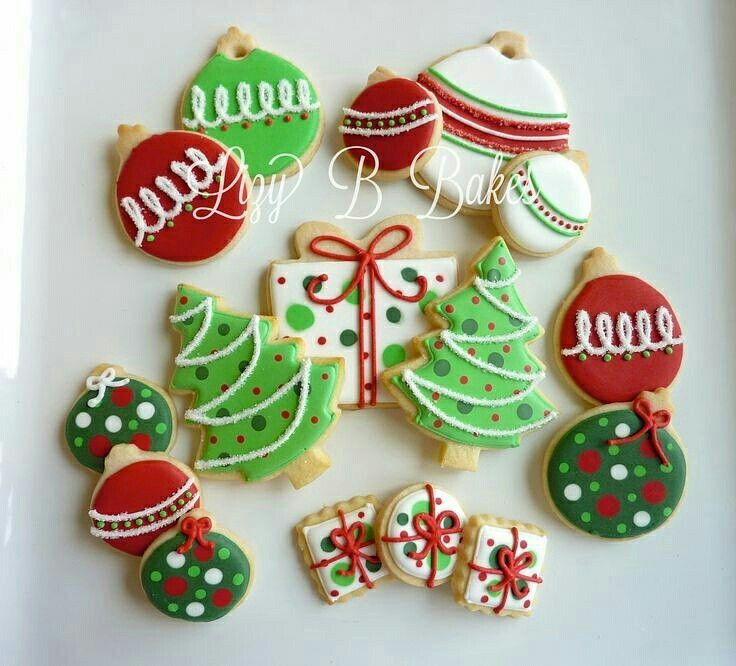 Christmas Cookie Icing Ideas  1757 best cookies Christmas images on Pinterest