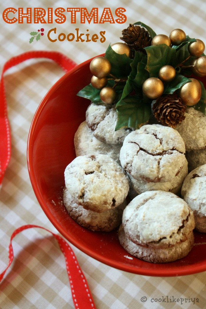 Christmas Cookies And Candy Recipes  Cook like Priya Chocolate Crinkles