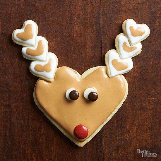 Christmas Cookies And Holiday Hearts  Santa and Reindeer Christmas Cookies