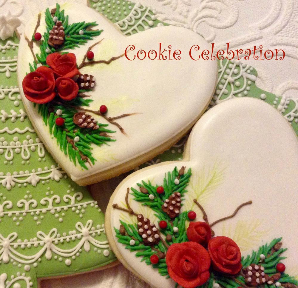 Christmas Cookies And Holiday Hearts  Christmas Hearts Cookie Celebration