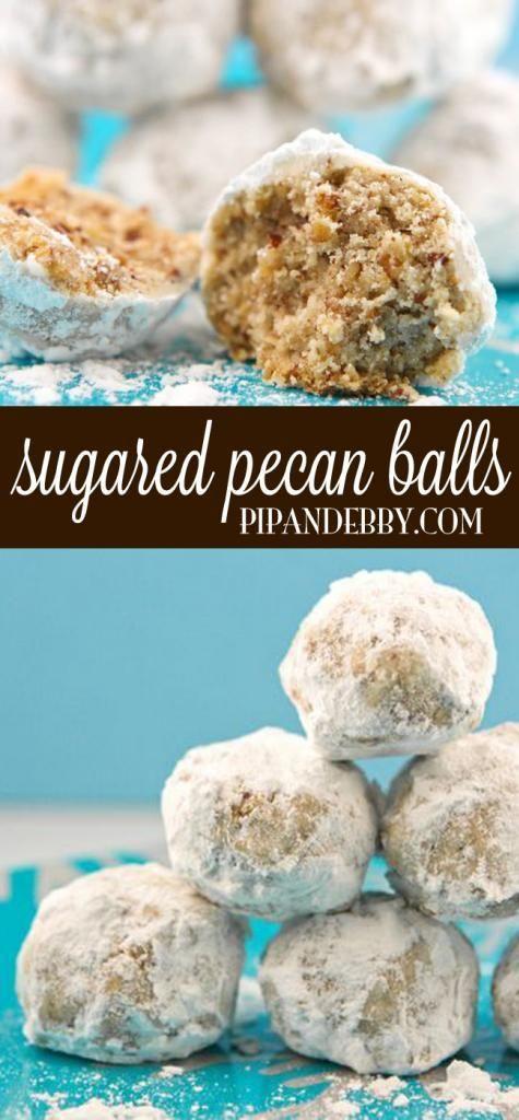 Christmas Cookies Balls  Sugared Pecan Balls Recipe