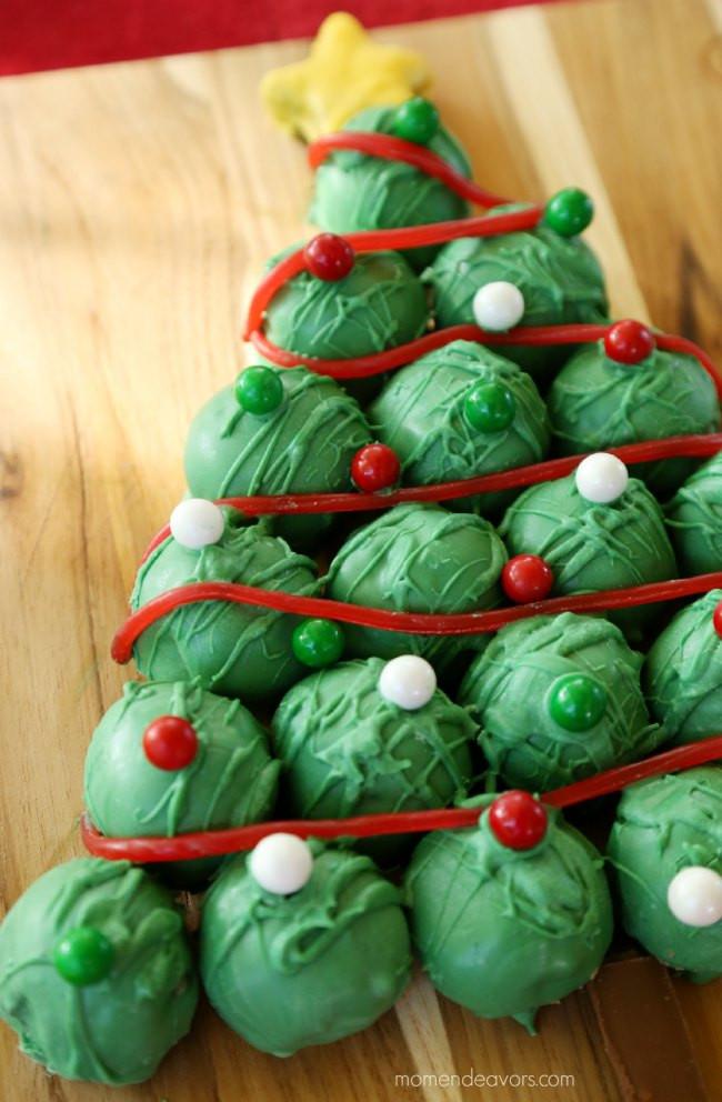 Christmas Cookies Balls  OREO Cookie Balls Christmas Tree