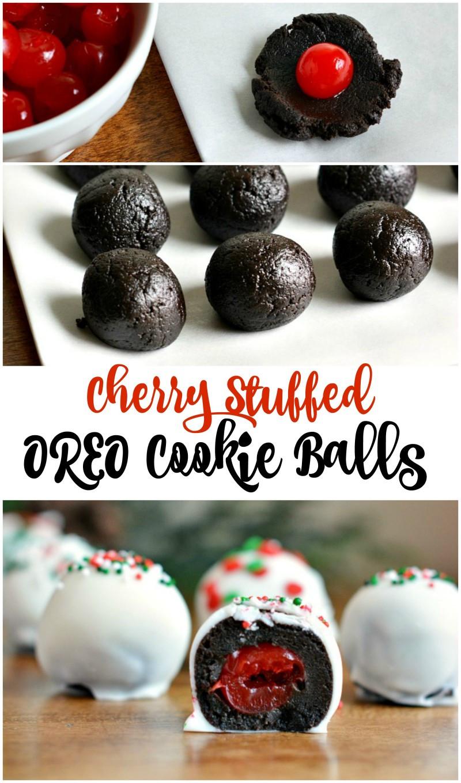 Christmas Cookies Balls  Cherry Stuffed OREO Cookie Balls Recipe Not Quite