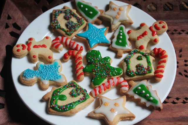 Christmas Cookies Cut Out Recipe  YUMMY TUMMY Glazed Sugar Cookies Recipe Decorated