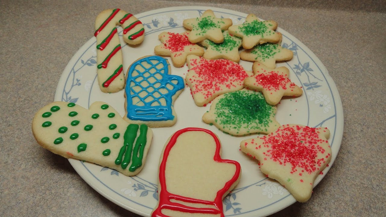 Christmas Cookies Cut Outs  Simple Sugar Cookie Cutout Recipe Christmas Cookie