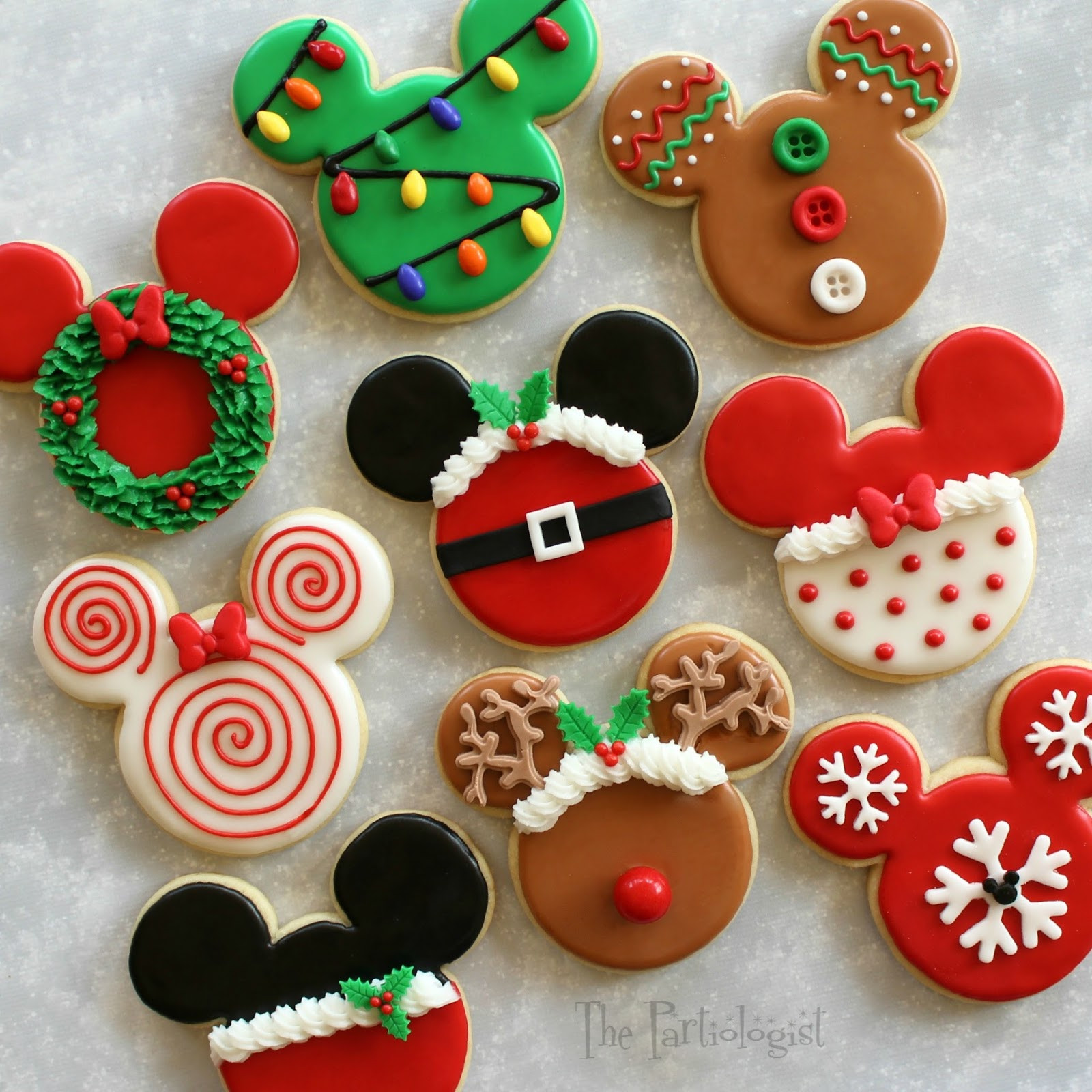 Christmas Cookies Decorating Ideas  The Partiologist Disney Themed Christmas Cookies
