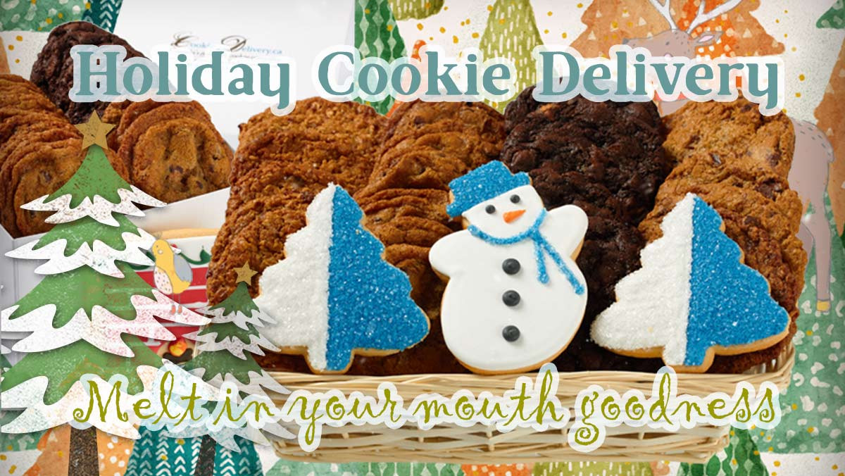 Christmas Cookies Delivered  Holiday Christmas Baskets