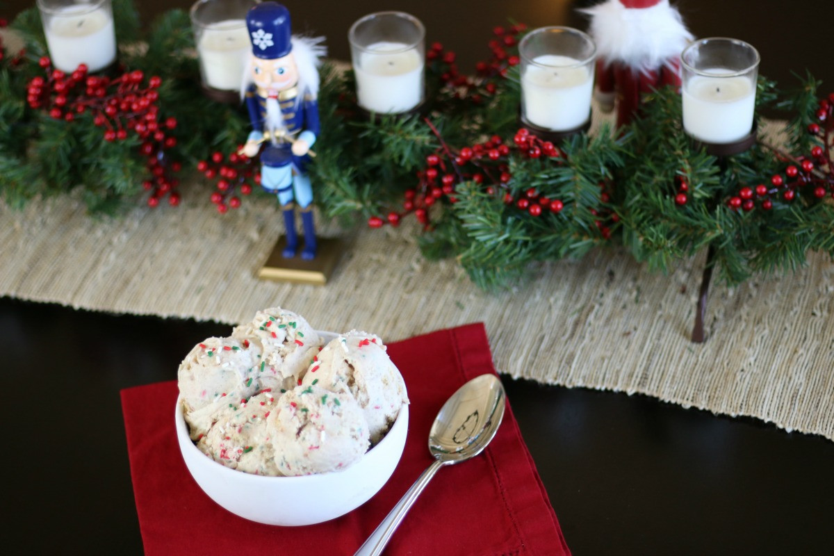 Christmas Cookies Ice Cream  Christmas Cookie Ice Cream Recipe from Simply Shellie