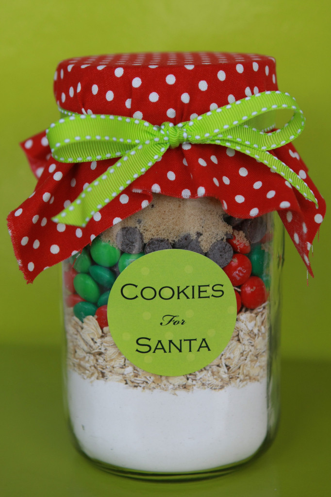 Christmas Cookies In Ajar  Cookies in a Jar for Santa