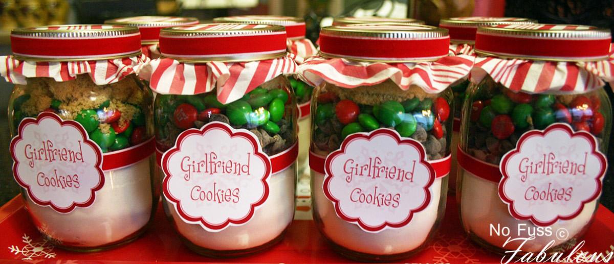 Christmas Cookies In Ajar  Christmas Girlfriend Cookies in a Jar Loralee Lewis