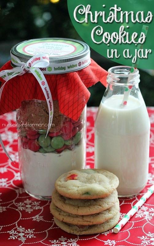 Christmas Cookies In Ajar  Christmas Cookies in a Jar Nurse Loves Farmer