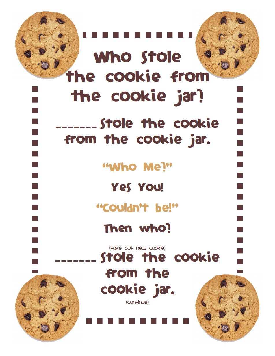 Christmas Cookies Lyrics  Who Stole the Cookie from the Cookie Jar Poem pdf