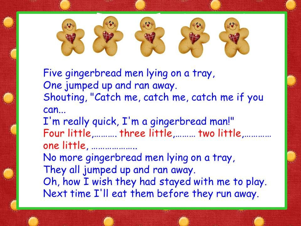 Christmas Cookies Lyrics  Five Little Gingerbread Men song